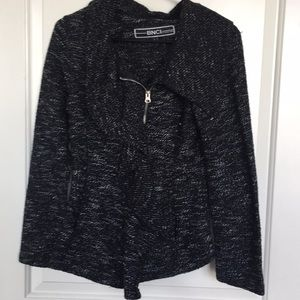 BNCI Black knit Jacket with zip